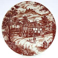 Vintage Broadhurst Swan Inn Brown White Rimmed Soup Bowl