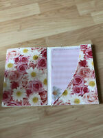 VTG Hallmark Stationery Portfolio Floral Sheets & Envelopes Blessings