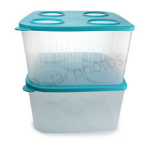 Tupperware Large 22-Cup Fresh n Cool Refrigerator Containers 2-piece Set - NEW