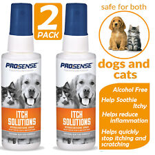 Itch Fast Relief Solutions Hydrocortisone Spray Shooting Cats Dog Skin with Aloe