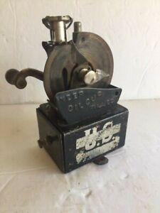 Rare antique metal . U.S. Crank handle Pencil Sharpener Co. 1907