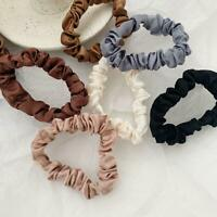 6PCS Elastic Hair Bands Silk Satin Scrunchie Hair Ties Ponytail Holder Ropes NW