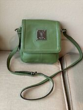 Tignanello Lime Green Crossbody Organizer Bag