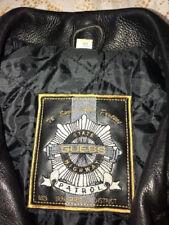 Vintage Black Leather Biker Jacket (GUESS) circa 1990  FREE SHIPPING!