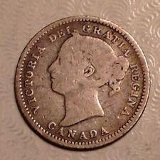 1881 H Canada Victoria  Ten 10 Cents