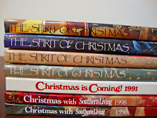 Spirit of Christmas Southern Living + Other Recipe Craft Books Lot of 7