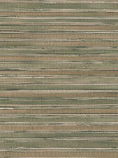 Gold and Olive Faux Printed Bamboo Shoot Grasscloth Wallpaper FD62626