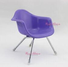 Chair Reading Cafe Patio Steel Leg Barbie Blythe Dollhouse Miniature 1:6 Purple