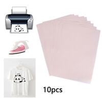 10Pcs A4 Heat Press Transfer Paper T-Shirt Iron-on Fabric Inkjet Printer Mug DIY