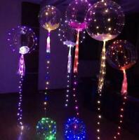 BoBo Bubble Balloon 18inch Glow In The Dark LED Clear Balloon Light Party Decor