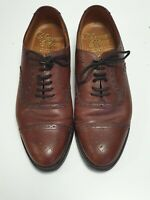 G15 MENS CHAPMAN & MOORE BROWN PATTERNED LEATHER LACE UP SHOES UK 7.5 EU 41.5