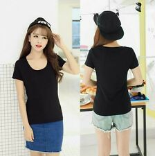 Plain Round Neck Shirt (Black)