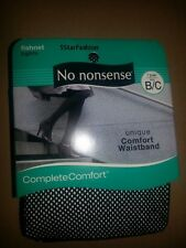 No Nonsense FISHNET Complete Comfort Waistband BLACK Sz B/C Tights Pantyhose