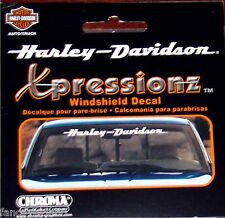 Harley Davidson Script Text White Vinyl Car Auto Windshield Strip Decal