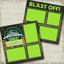 Space Mountain - DISNEY - 2 Premade Scrapbook Pages - EZ Layout 3366