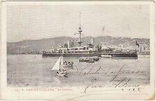 REGIA MARINA ITALIANA - NAVE CORAZZATA DA GUERRA RE UMBERTO 1904