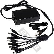 8 Port 12V 5A DC Power Adapter fit Night Owl IR Security Cameras