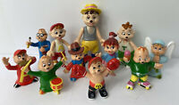 Vintage 1984 Alvin, Simon and Theodore Chipmunks Figure Lot Of 11 Toys DA92984