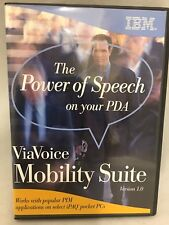 """ViaVoice Mobility Suite """"The power of Speech on Your PDA"""""""