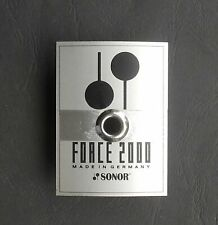 2 Sonor Force 2000 Metall Logos  Badges Vintage