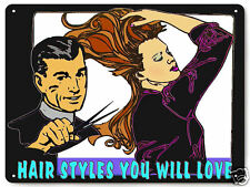 Beauty salon Barber shop Metal Sign Hair stylist / great gift wall decor 023
