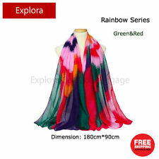 Ladies Fashion Accessary Colorful Rainbow Scarf Wrap Shawl 180cm*90cm-4