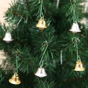 10 Pcs/set Gold Jingle Christmas Decor Mini Bells Christmas Tree Hanging Decor