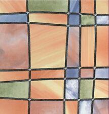 Fensterfolie Barcelona - bunte Glasdekorfolie selbstklebend Klebefolie 0,45x2 m