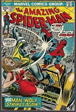 AMAZING SPIDER-MAN #125 MARVEL 10/73 ORIGIN MAN-WOLF DEATH OF GWEN AFTERMATH VF+
