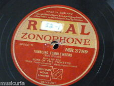 78rpm SONS OF THE PIONEERS tumbling tumbleweeds / cowboy camp meetin` MR 3789
