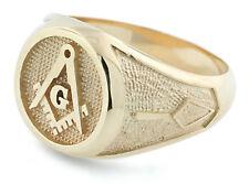 NEW 10K Solid Gold Masonic Master Mason Freemason Ring Custom Made Sizes 8-12