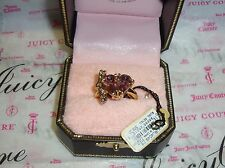 NWT Juicy Couture Heart and Bow Ring 100% Authentic