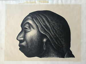 Luis Arenal (Mexican, 1909-1985) 'Mujer de Taxco' 1947 lithograph SIGNED