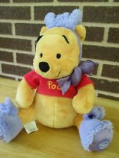 """Easter Pooh Plush Disney Store Exclusive 12"""" Sitting Not Counting Bunny Ears"""