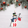 Kurt Adler BINGO Snowman Christmas Ornament Holiday Resin New with Tags