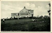 "Antique Postcard  YARMOUTH Nova Scotia CANADA  ""GOLF & COUNTRY CLUB""  CLUB HOUSE"