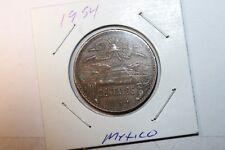 1954 Mexico 20 Centavos High Grade Free Ship Usa