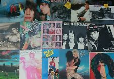 7 Pop Rock 1980s Vg+ Record Lot Albums Mixed Vinyl Bands Music rock glam