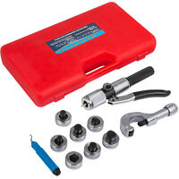 "Hydraulic Tube Expander Tool Kit 3/8"" to 1-1/8"" Swaging Heads HVAC Tube Cutter"