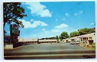 Elms Motel Dining Room Winchester Virginia VA old Vintage Postcard A89