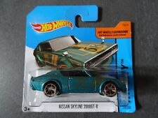 Hot Wheels Nissan Skyline 2000 GT-R in turquoise blue colour - Long Card. SEALED