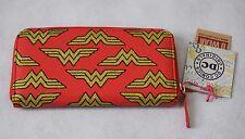 BNWT Wonder Woman Glitter Mini Logo Purse In Gold/Red - One Size (R194)