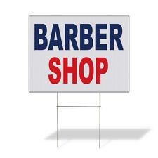 Weatherproof Yard Sign Barber Shop Blue Red Lawn Garden Salon Amp Spa