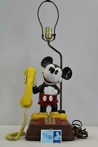 American Telecommunications Disney Mickey Mouse Push Button Telephone/Lamp Combo