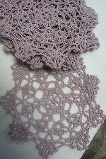 "dozen(12) Hand Crochet Doilies 6"" L.Gray Vintage Wedding Christmas  Motifs"