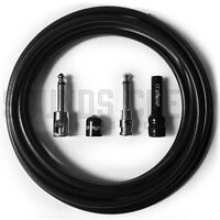 George L's .225 15ft Solderless Guitar Cable Kit - Right Angle / Straight Plugs