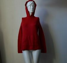 Gap Wool/Cashmere Women's Winter Jumper Hooded Red Used Size S