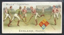 WILLS-SPORTS OF ALL NATIONS-#24- HOCKEY - ENGLAND