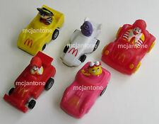 LOOSE SET 4+1 U-3 McDonald's 1990 TURBO MACS Ronald Grimace Hamburglar COMPLETE