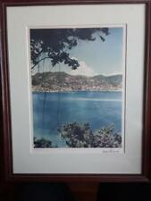 MARIO BUCOVICH PRINT ACAPULCO, MEXICO SIGNED & NUMBERED STATON'S GALLERY FRAMED